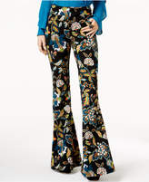 INC International Concepts Anna Sui Loves Petite Printed Flared Pants, Created for Macy's