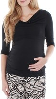 Everly Grey 'Judith' Shirred Jersey Maternity Top