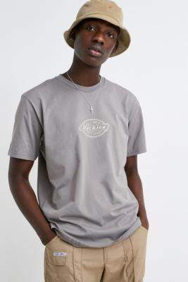 Dickies UO Exclusive Embroidered Washed Black T-Shirt - grey S at Urban Outfitters