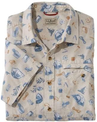 L.L. Bean L.L.Bean Men's Otter Cliff Shirt, Short-Sleeve Print