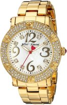 Betsey Johnson Women's Quartz Metal and Alloy Watch, Color:Gold-Toned (Model: BJ00229-04)