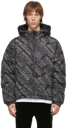 Versace Jeans Couture Black Logo Puffer Jacket