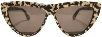 Bottega Veneta Beige Plastic Sunglasses