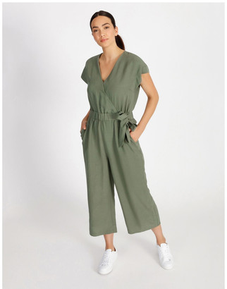 Basque Linen Jumpsuit