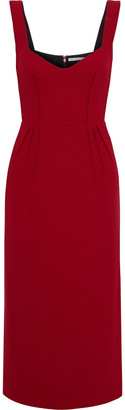 Emilia Wickstead Juditella Pleated Wool-crepe Midi Dress