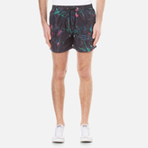 Paul Smith Men's Cockatoo Print Swim Shorts Black