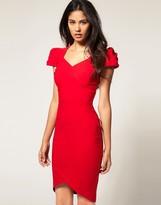 Dress With Sweetheart Neckline And High Hemline