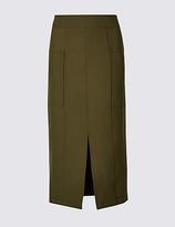 M&S Collection Front Split Patch Pocket Pencil Midi Skirt