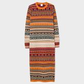 Paul Smith Women's Fair Isle Knitted Wool Dress