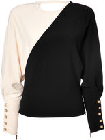 Ungaro Two-Tone Top in Black/Beige