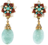 Jose & Maria Barrera Crystal Drop Earrings