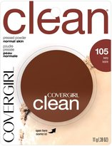 Cover Girl Clean Pressed Powder Ivory Neutral 105, (Pack of 2)