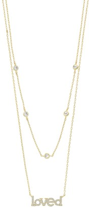 """Paige Harper Cubic Zirconia """"Loved"""" Layered Necklace"""
