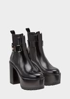 Versace Elastic Insert Ankle Platform Boot