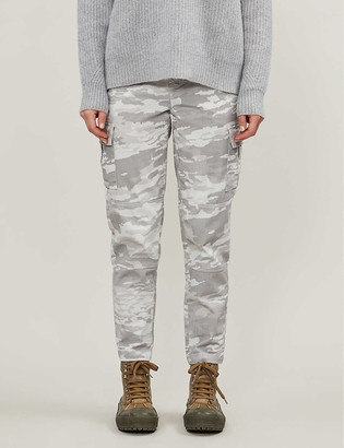 J Brand Camouflage-print tapered high-rise jeans