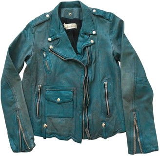 Golden Goose Turquoise Leather Leather jackets