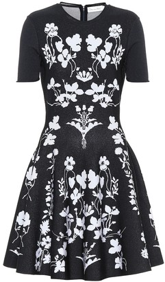 Oscar de la Renta Floral knit dress