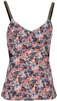 Morgan Floral Print Top With Studs