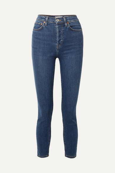 RE/DONE Ultra Stretch Medium 53 Skinny Jeans - Mid denim
