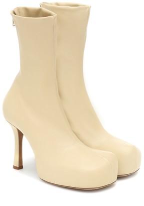 Bottega Veneta Bold leather platform ankle boots