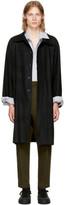 Ann Demeulemeester Black Raw Cut Trench Coat