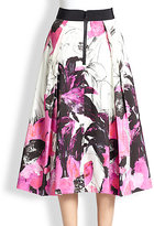 Milly Winter Orchid Midi Skirt
