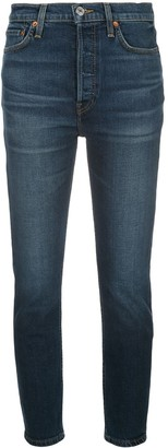 RE/DONE Faded Skinny Jeans