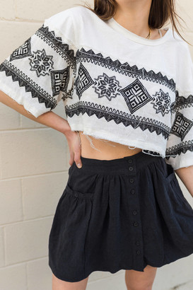 Urban Outfitters Kennet Embroidered Cropped Tee