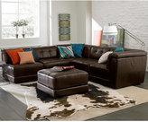 Stacey Leather 5-Piece Modular Sofa