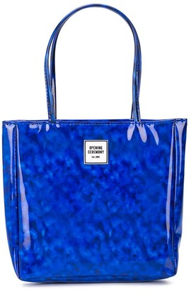 Opening Ceremony mini printed North-South tote