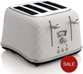 De'Longhi DeLonghi CTJ4003.W Brillante 4-Slice Toaster - White