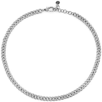 Shay White Gold And Diamond Mini Pave Link Choker