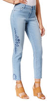 Style And Co. Petite Petite Embroidered Calabasas Wash Skinny Jeans