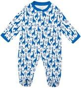 Jo-Jo JoJo Maman Bebe Funky Giraffe Footie (Baby) - Blue-3-6 Months