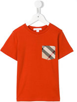 Burberry house check pocket T-shirt - kids - Cotton - 7 yrs