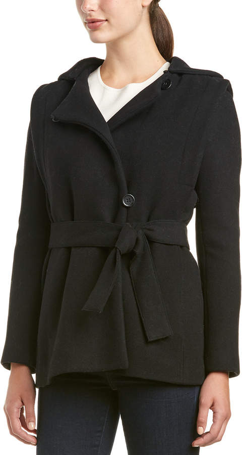 Maje Guerrier Wool & Cashmere-Blend Coat