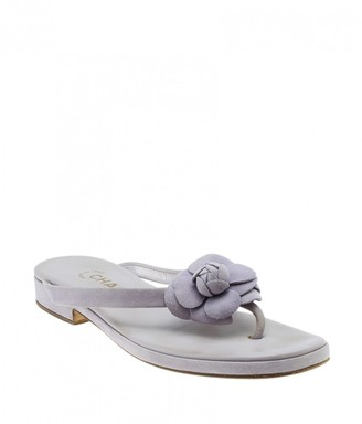 Chanel Purple Suede Heels