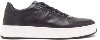 Tod's Logo Embossed Leather Trainers - Mens - Dark Blue