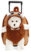 Infant Popatu 'Aviator Bear' Rolling Backpack - Brown