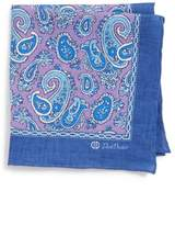 David Donahue Paisley Silk Pocket Square