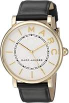 Marc Jacobs Women's 'Roxy' Quartz Stainless Steel and Leather Casual Watch, Color:Black (Model: MJ1532)
