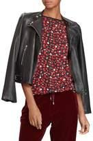 Lauren Ralph Lauren Petite Leather Moto Jacket