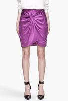 Elizabeth and James Purple satin knot Femi Skirt