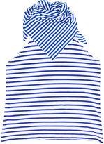 Xander Zhou - striped bib scarf - unisex - Cotton - One Size