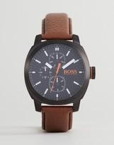 BOSS ORANGE By Hugo Boss 1550028 Capetown Leather Watch In Brown