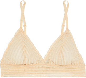 Cosabella Sweet Treats Shadow Stripe Stretch-lace Soft-cup Triangle Bra
