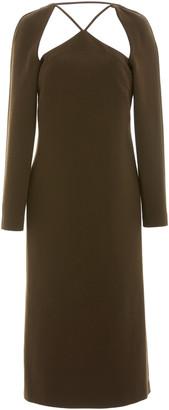 REJINA PYO Paloma Cutout Wool Midi Dress