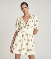 Thumbnail for your product : Reiss Olive - Floral Printed Mini Dress in Ivory
