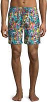 Bugatchi Sea-Life Grid Swim Shorts
