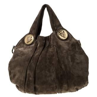 Gucci Hysteria Khaki Suede Handbags
